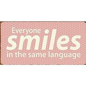 Magnet/Kylskåpsmagnet Everyone smiles in the same language