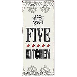 Tin Sign Five star kitchen