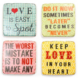 Coasters Love is easy