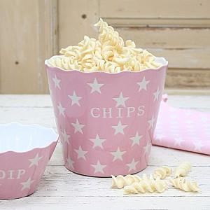Chipsskål/Skål Chips Star - Rosa