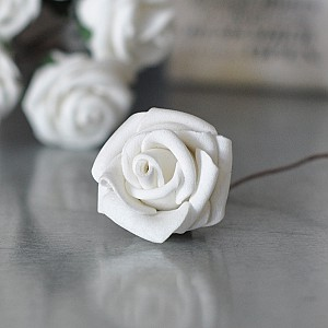 Decor Rose White 2.5 cm