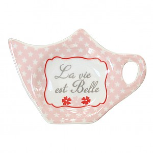 Tepåsehållare La vie est Belle