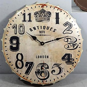 Wall Clock Bottle Cup Antiques