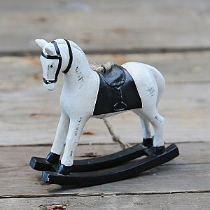 Rocking Horse with black saddle
