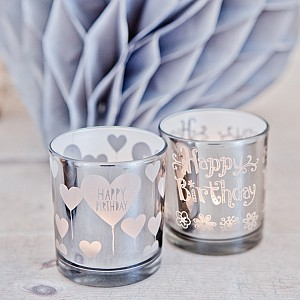 Candle Holders Happy Birthday 2 pcs