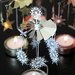 Rotary Candle Holder White Star