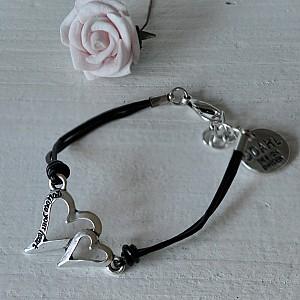 Armband Två Hjärtan Follow your heart