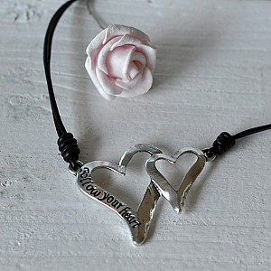 Necklace Two Hearts