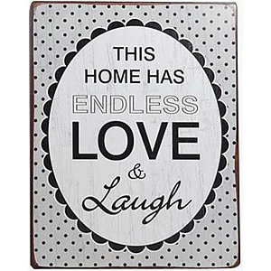 Tin Sign Endless Love & Laugh