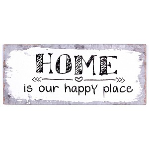 Tin Sign Home is our happy place