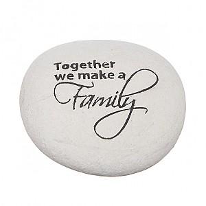 Sten med text Family