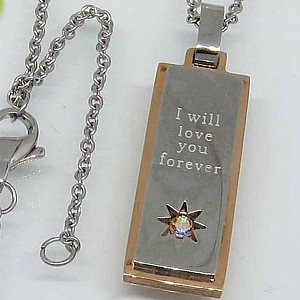 Necklace I will love you forever