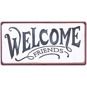 Magnet/Kylskåpsmagnet Welcome friends