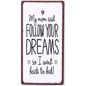 Magnet/Kylskåpsmagnet My mom said follow your dreams