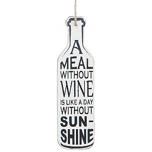 Wine Bottle Tag A meal without wine