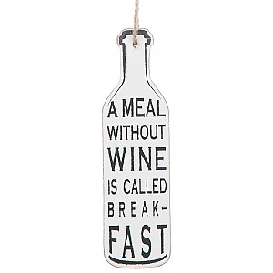 Wine Bottle Tag A meal without wine is called breakfast