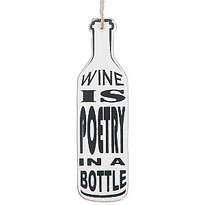 Wine Bottle Tag Wine is poetry in a bottle