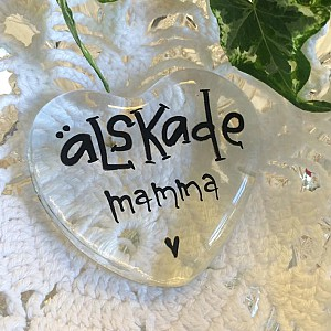 Glass Heart Älskade Mamma
