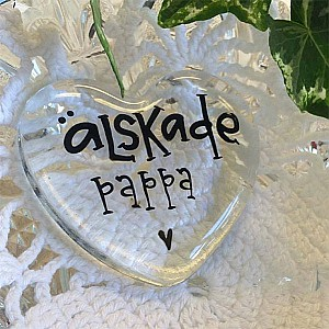 Glass Heart Älskade Pappa