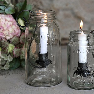Candle Holder French Glass Jar