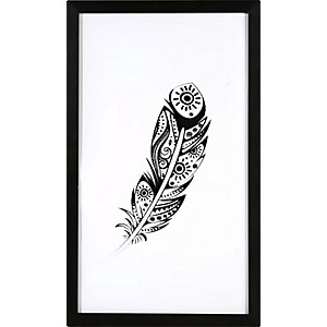 Picture Feather with black frame