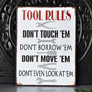 Tin Sign Tool Rules