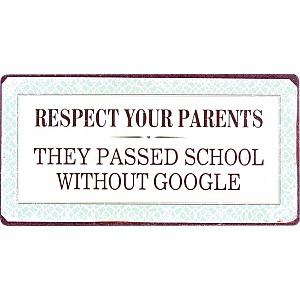 Magnet/Kylskåpsmagnet Respect your parents