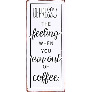 Tin Sign Depresso