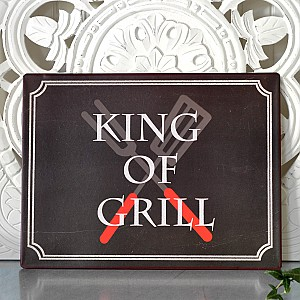 Tin Sign King of grill