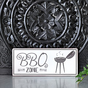Tin Sign BBQ Zone