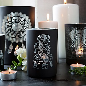 Majas Candle Holder Elephant Family