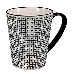 Mugg Black & White Prickar