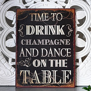 Tin Sign Champagne