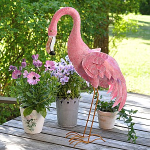 Flamingo in wrought iron