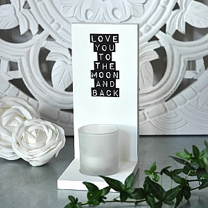 Candle Holder Wall Love you to the moon