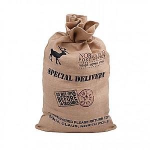 Julklappssäck i jute Special Delivery - Stor