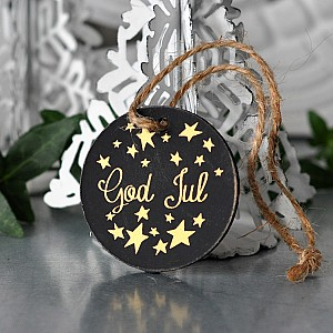 Gift Tag Round God Jul