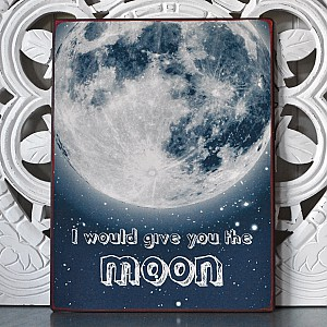 Tin Sign Moon