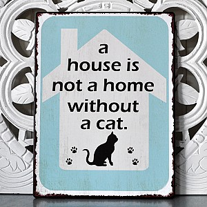 Tin Sign A house