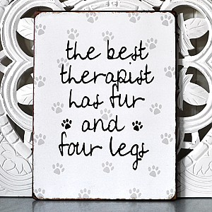 Tin Sign The best therapist