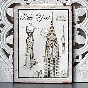 Plåtskylt New York