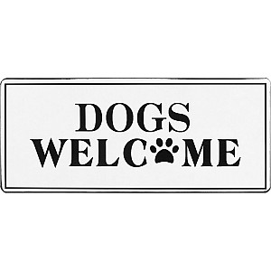 Tin Sign Dogs welcome