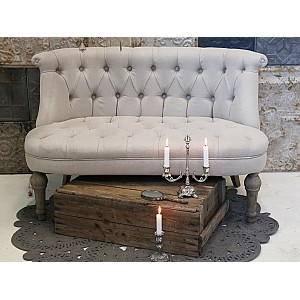 French Sofa in linen fabric