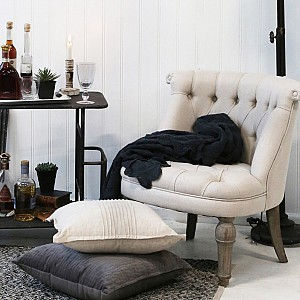 French Armchair in linen fabric