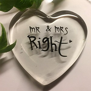 Glass Heart Mr & Mrs Right