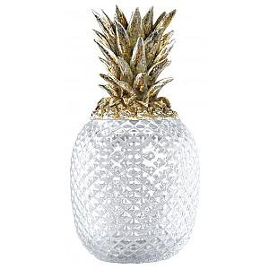 Ananas i glas med champagnefärgat lock - Stor