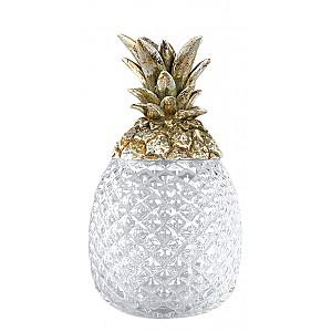 Ananas i glas med champagnefärgat lock - Liten