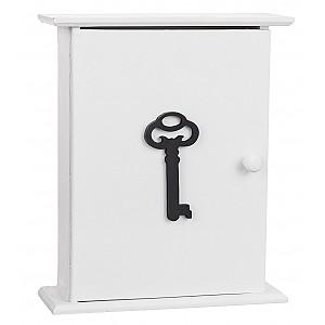 Nyckelskåp i trä Nyckel - Vit