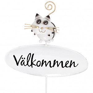 Welcome Sign Cat