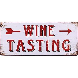 Plåtskylt Wine Tasting